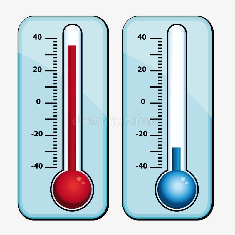 Termômetros. ilustração do vetor
