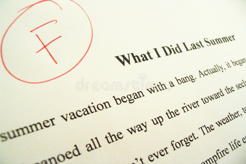 Download Term Paper Showing 'F' Grade Stock Image - Image: 527167