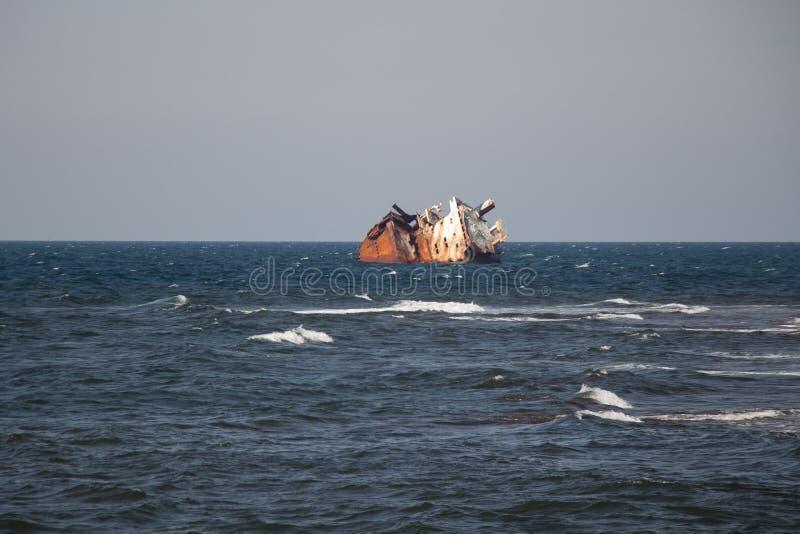 Termas crimean Sea excursão Navio Sunken imagem de stock
