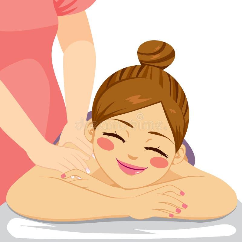 Termas da massagem da mulher ilustração do vetor