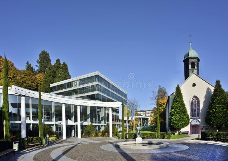 Termas de Caracalla e igreja do hospital, Baden-Baden, Alemanha 10 imagens de stock