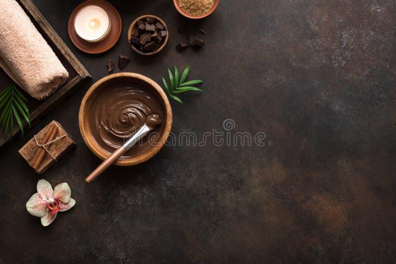 Termas do chocolate fotografia de stock royalty free