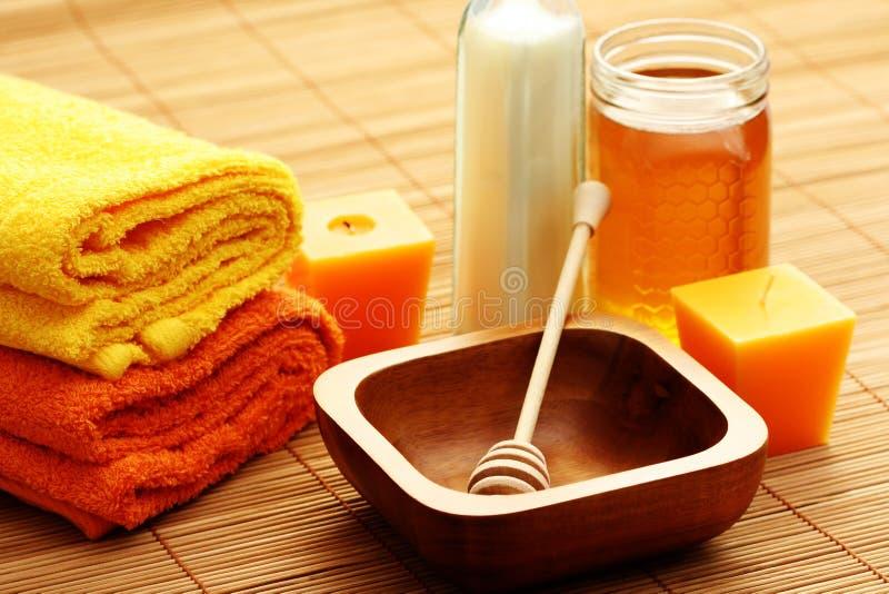 Termas do mel e do leite imagem de stock