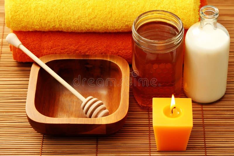 Termas do mel e do leite fotos de stock