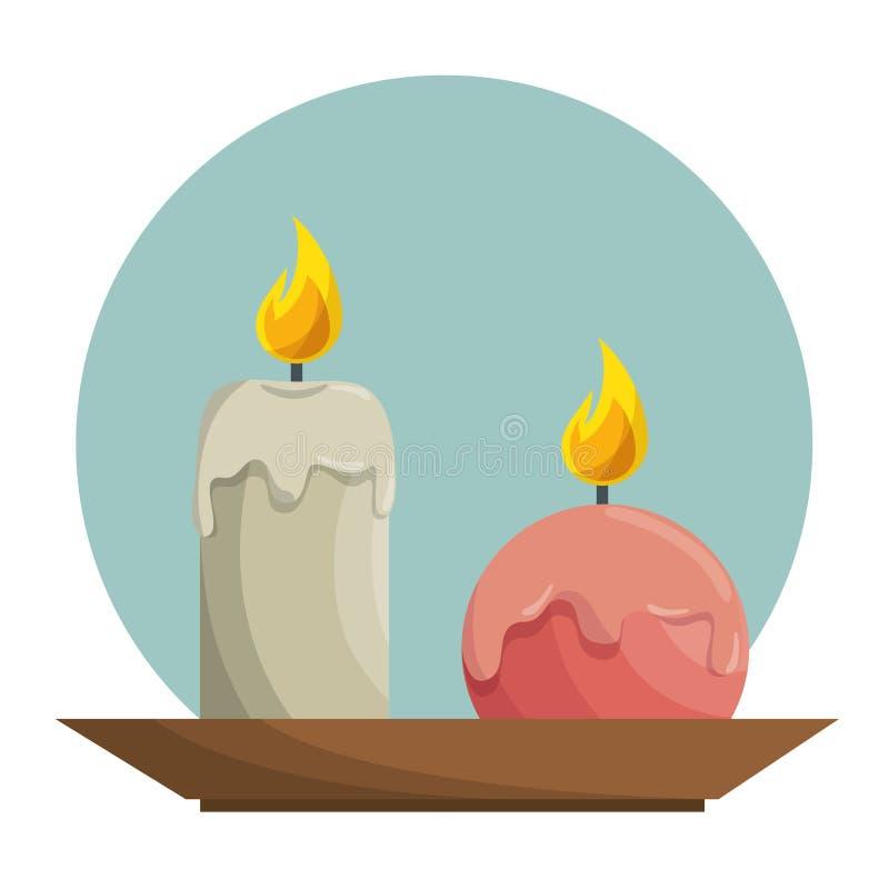 Termas do teraphy do aroma da vela ilustração royalty free