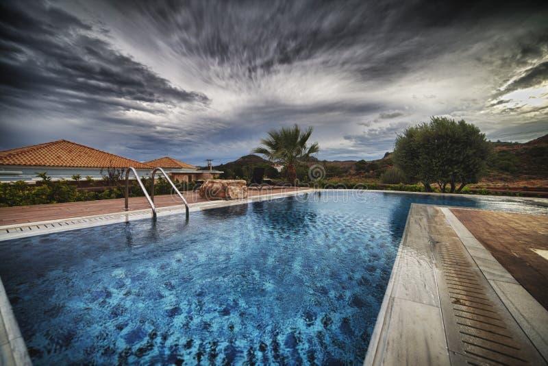 Termas Hotell de Marquise Luxurious do La em Grécia foto de stock