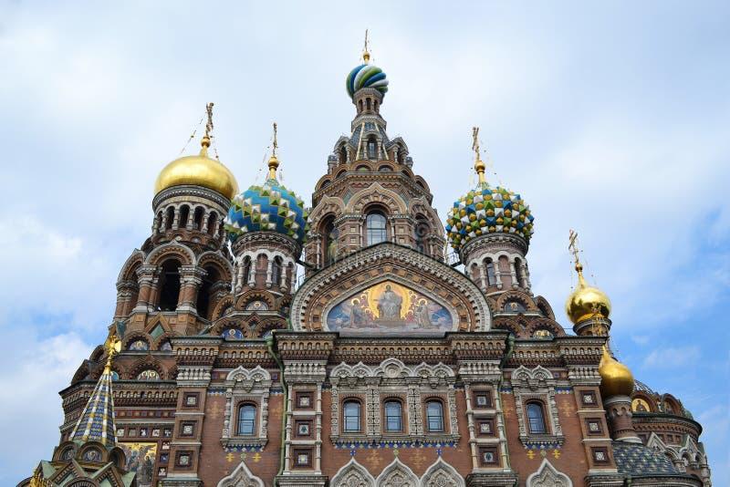 Termas-na-krovi do templo St Petersburg, Rússia fotografia de stock royalty free