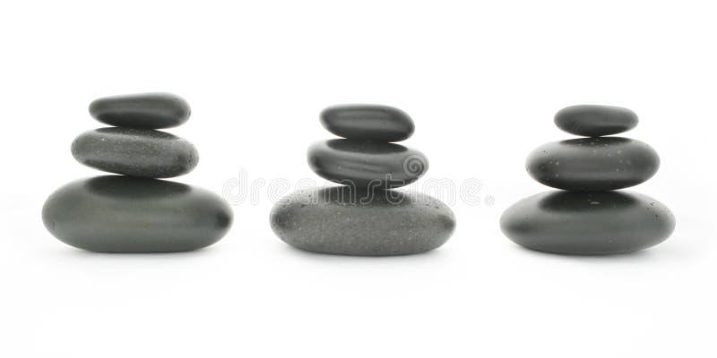 Termas. Pedras da massagem fotos de stock