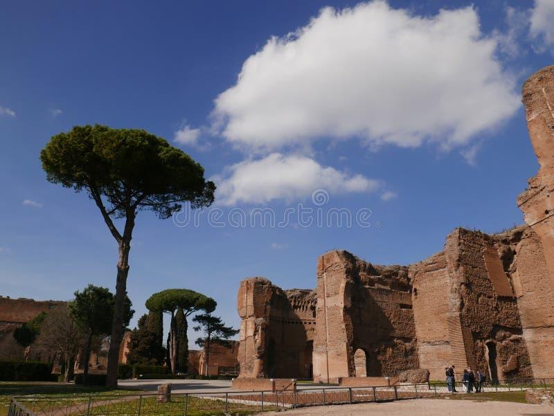 Terme Di Caracalla oud Roman Ruins in Rome royalty-vrije stock foto