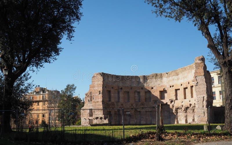 Terme di Traiano en Roma imagenes de archivo
