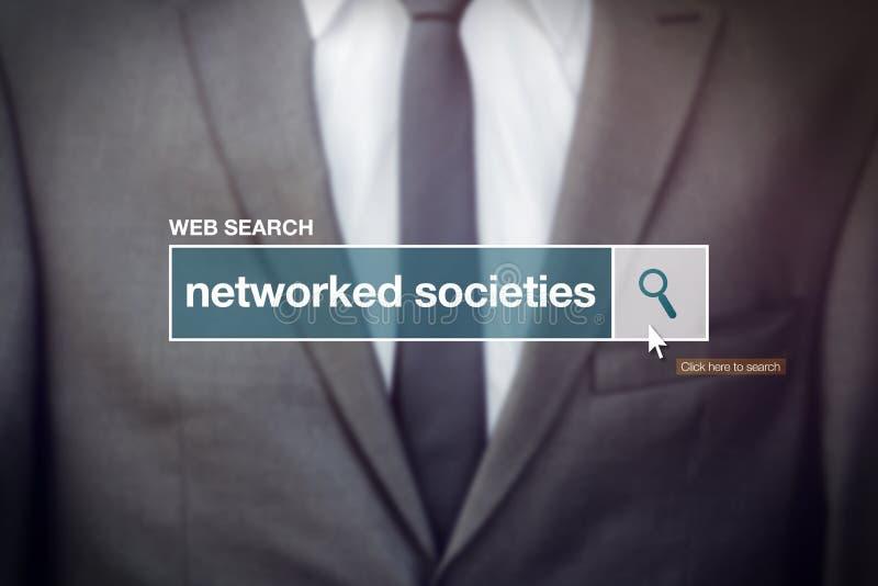 Terme relié au réseau de glossaire de barre de recherche de Web de sociétés photographie stock