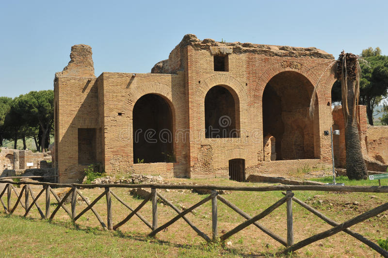 Terme Taurine. Civitavecchia,Rome Italy Terme Taurine is a Roman archaeological site located in Civitavecchia, isolated, on a hill just a few kilometers from the royalty free stock images