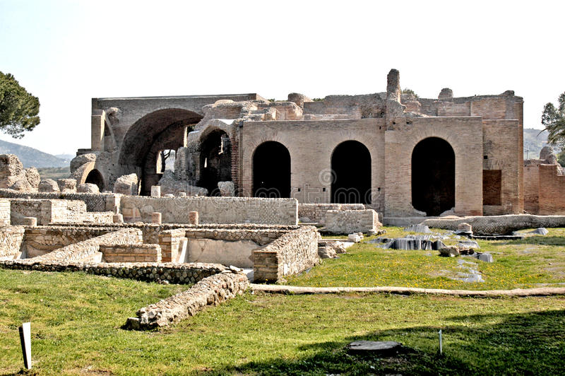 Terme Taurine. Civitavecchia,Rome Italy Terme Taurine is a Roman archaeological site located in Civitavecchia, isolated, on a hill just a few kilometers from the stock photos
