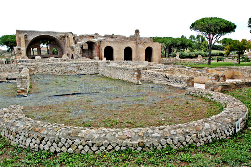 Terme Taurine. Civitavecchia,Rome Italy Terme Taurine is a Roman archaeological site located in Civitavecchia, isolated, on a hill just a few kilometers from the stock image