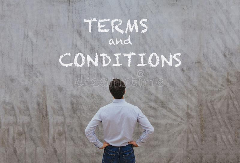 Termes et conditions images stock