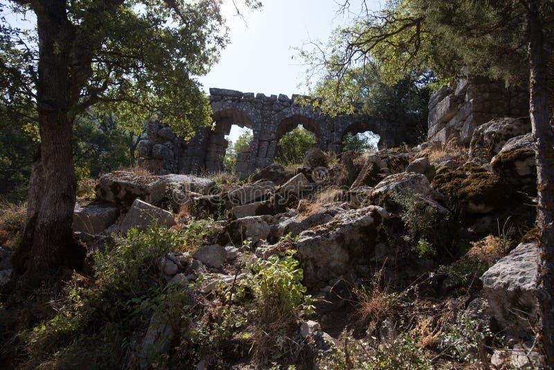 Termessos ruins, Turkye royalty free stock images