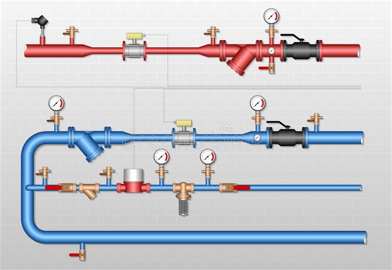 Termicznej energii metering stacja ilustracja wektor