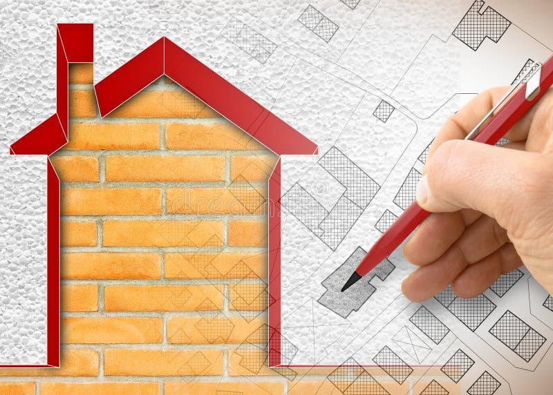 Termicznej izolacji projekt starzy budynki ulepsza? wydajno?? energii i zmniejsza? termiczne straty - 3D odp?acaj? si? poj?cie wi ilustracji