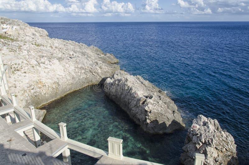 Termiczni założenia na morzu obrazy royalty free