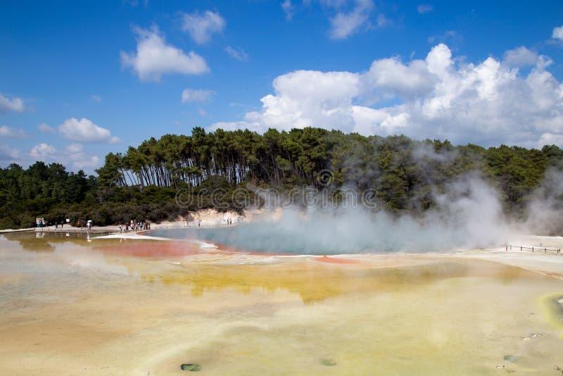 Termiczny basen przy Wai-O-Tapu fotografia royalty free