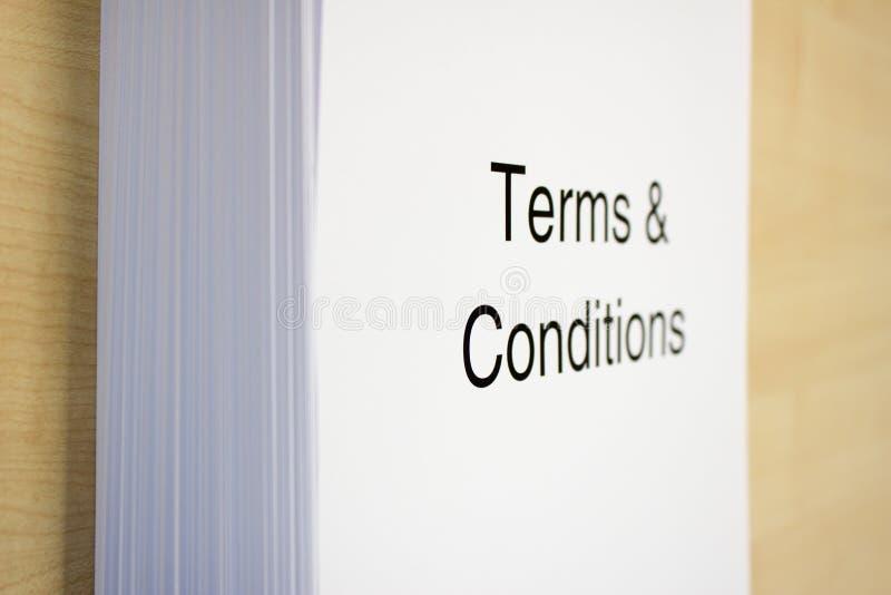 Termijnen & Voorwaarden stock afbeeldingen