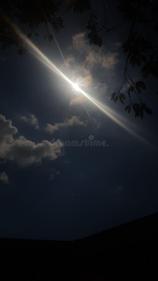 Terminación de un eclipse solar foto de archivo
