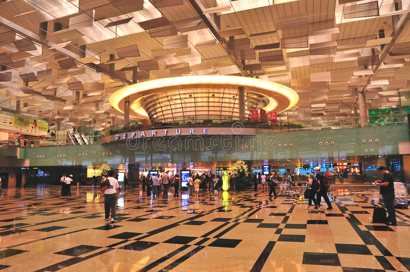Terminal 3, Changi Luchthaven, Singapore royalty-vrije stock afbeelding