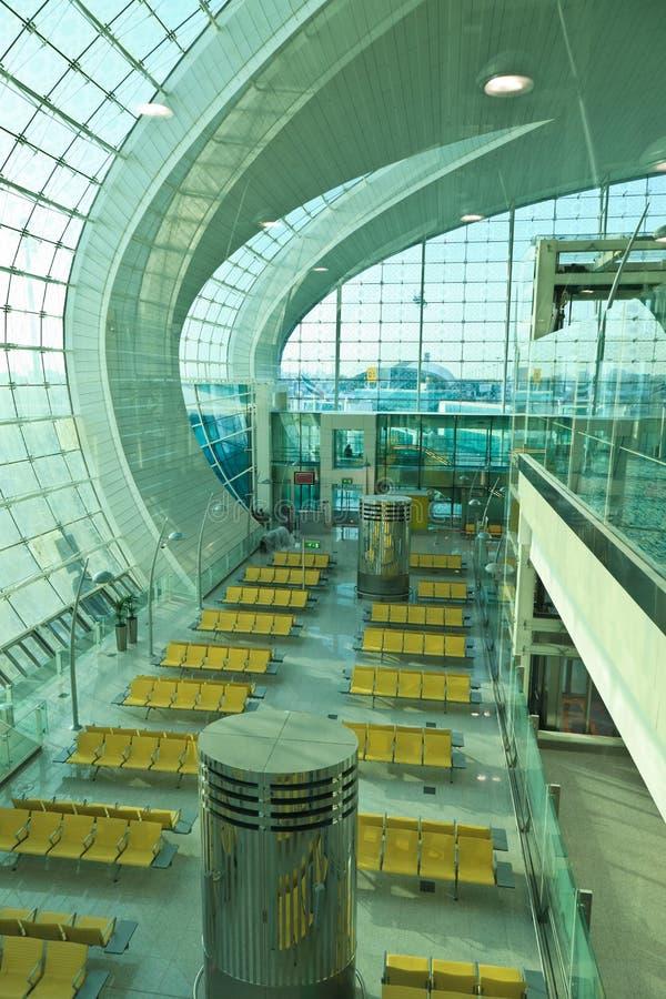 Terminal 3 von Dubai-Flughafen stockfotos