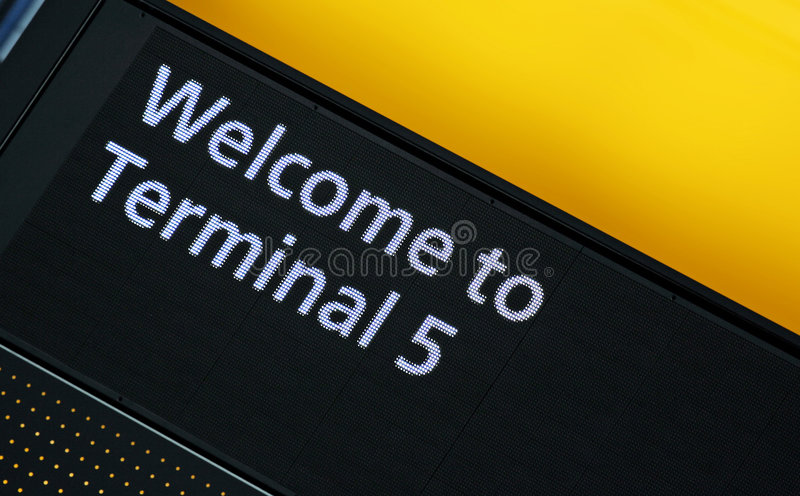 Terminal 5 Sign Royalty Free Stock Images