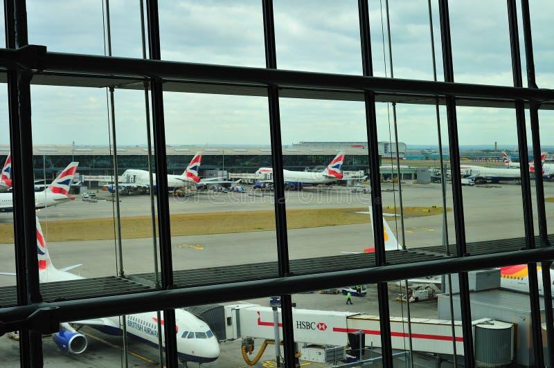 Terminal 5 van British Airways stock foto