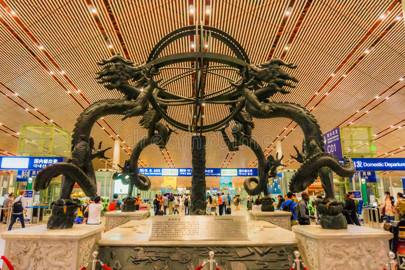 Terminal 3 of Beijing Capital International Airport stock image