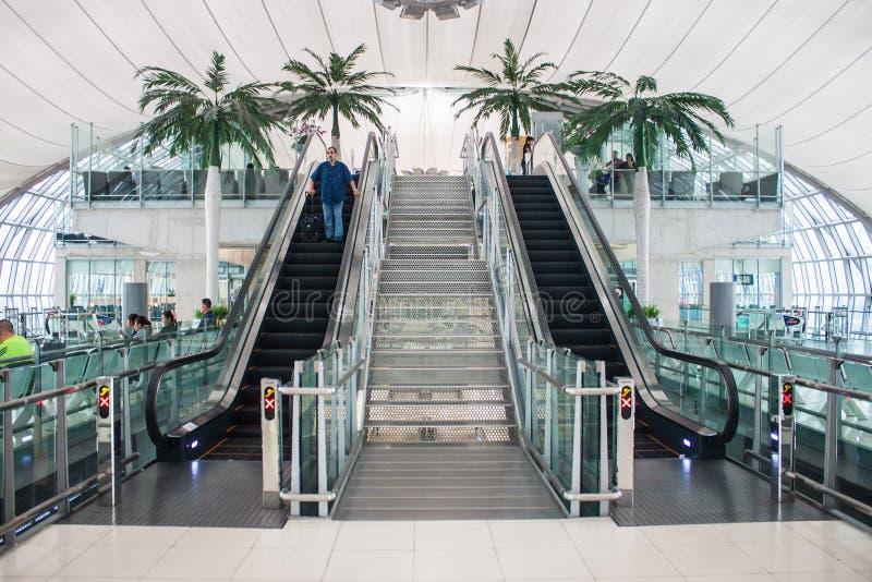 Terminal bij Suvarnabhumi-Luchthaven stock foto's