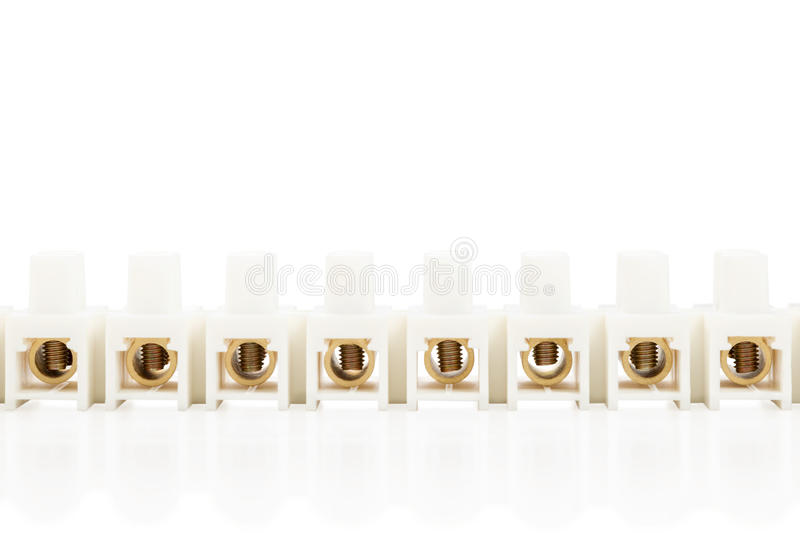 Terminal blocks clamps royalty free stock photography