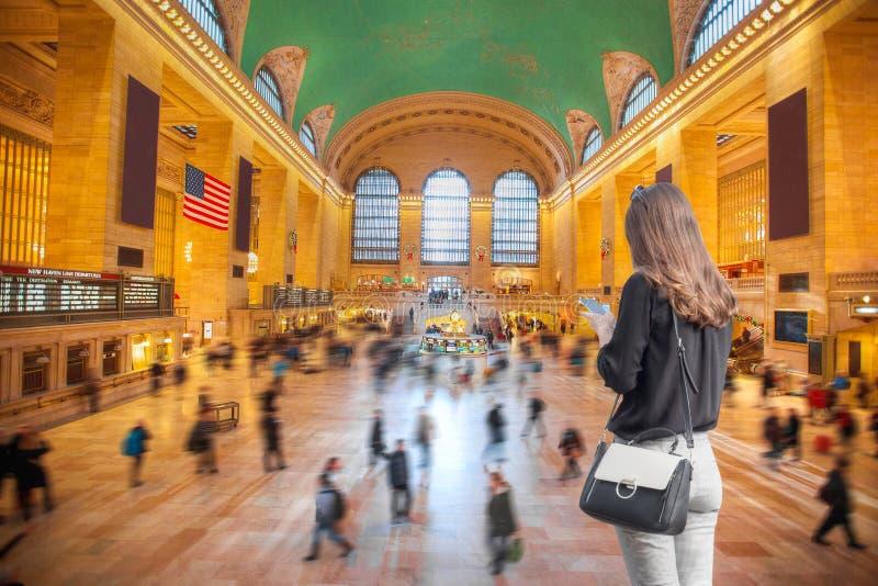 Terminal central magn?fico, Nueva York imagen de archivo