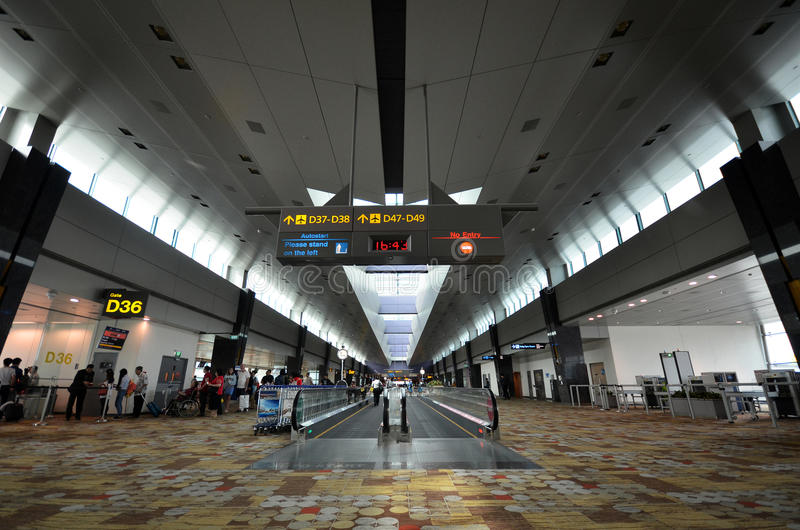 Terminal 1 in Changi Airport, Singapore stock photos