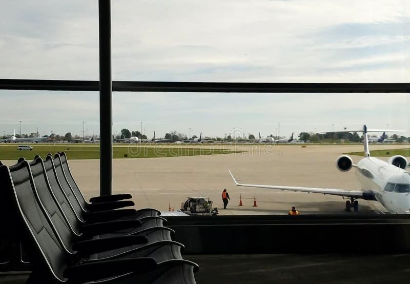 Terminal d'aéroport image libre de droits