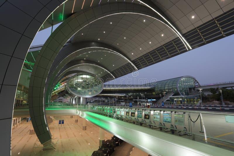 Terminal d'aéroport de Dubaï 3 image libre de droits
