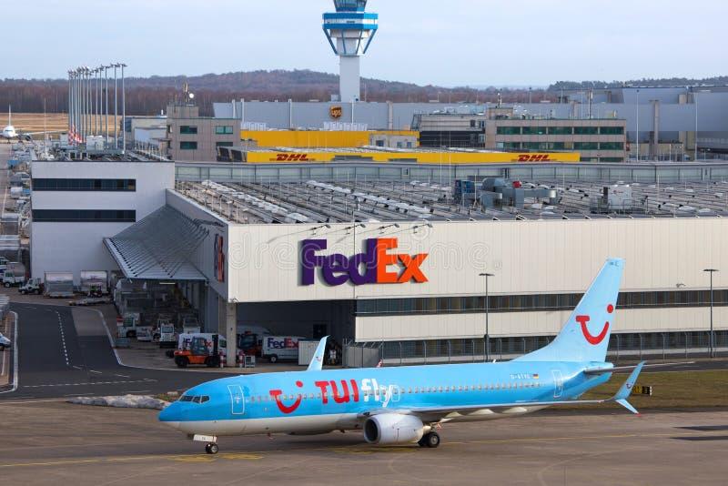 Terminal da carga na água de Colônia Bona Alemanha do aeroporto fotos de stock royalty free