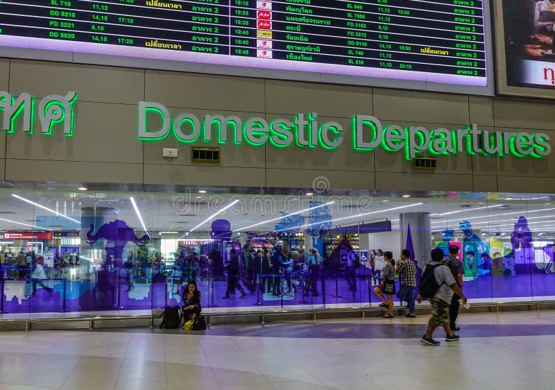 Terminal da partida do aeroporto de Suvarnabhumi fotos de stock
