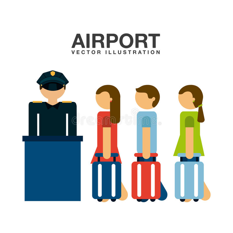Terminal de aeroporto ilustração royalty free