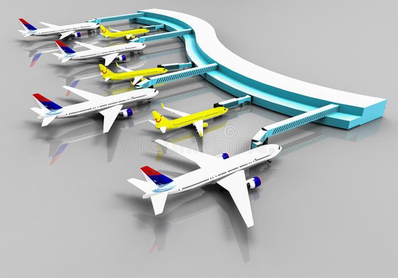 Terminal de aeroporto ilustração stock