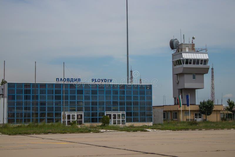 Terminal de aeroporto búlgaro velho fotos de stock