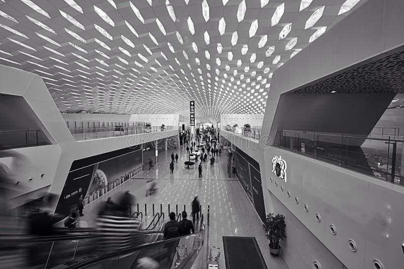 Terminal de aeroporto internacional de Shenzhen fotografia de stock