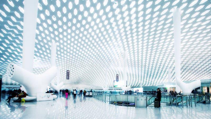 Terminal de aeroporto internacional de Shenzhen imagem de stock royalty free