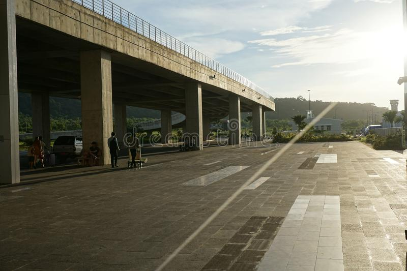 Terminal de aeroporto pequeno vietnamiano imagens de stock royalty free