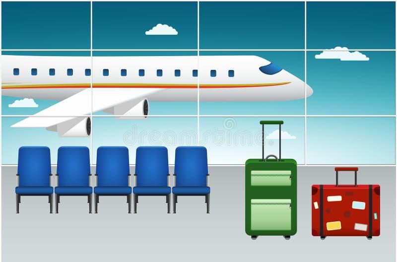 Terminal de aeroporto Voo da chegada ilustração royalty free