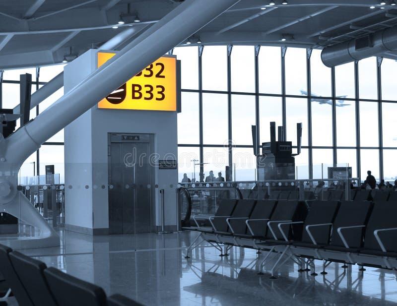 Terminal de aeropuerto imagen de archivo libre de regalías