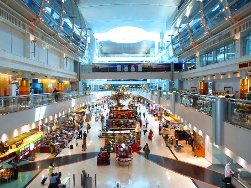 Terminal de aeropuerto de Dubai Int'l 1 imagen de archivo libre de regalías