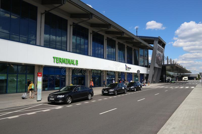 Terminal de aeropuerto de Katowice fotografía de archivo