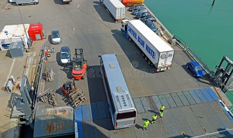 Terminal de balsa de Hirtshals fotografia de stock royalty free